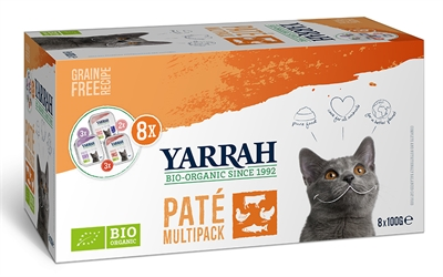 Yarrah organic kat multipack pate zalm / kalkoen / rund