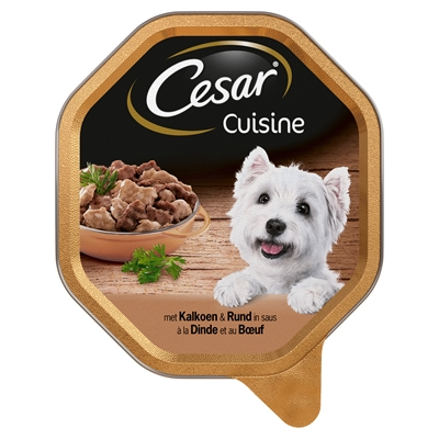 Cesar alu cuisine kalkoen / rund in saus