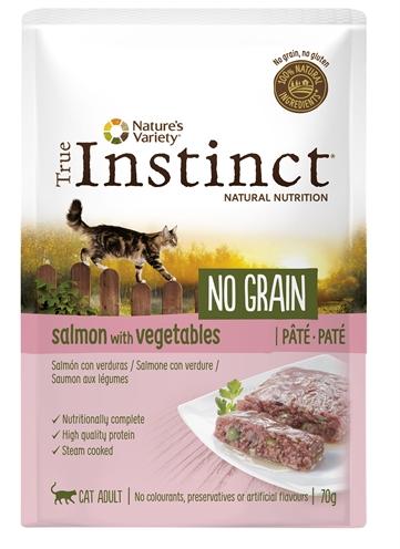 True instinct pouch no grain adult salmon pate