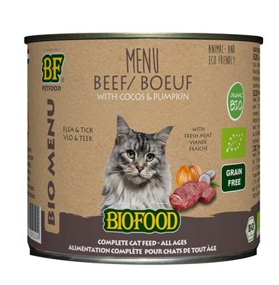 Biofood organic kat rund menu blik