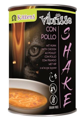 Vibrisse shake kitten+ kip met omega3