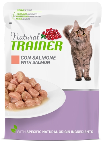 Natural trainer cat mature salmon pouch