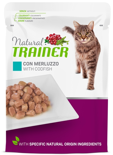 Natural trainer cat sterilised codfish pouch