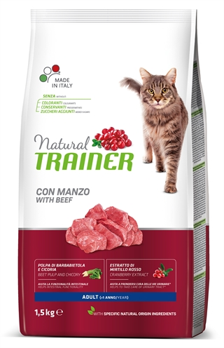 Natural trainer cat adult beef