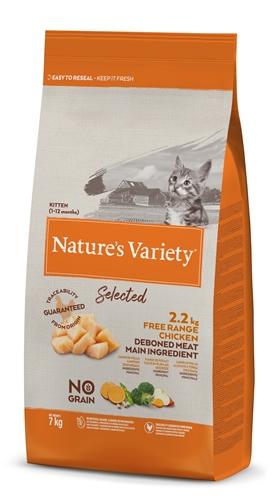 Natures variety selected kitten free range chicken